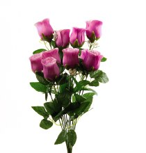 Purple Artificial Rose Bunch