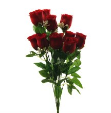 Red Artificial Rose Bunch