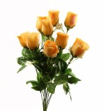 Peach Artificial Rose Bunch
