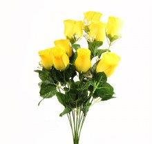 Yellow Artificial Rose Bunch