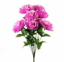 Purple Artificial Rose Bunch x 10 Stems