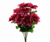 Zinnia Artificial Flower Bunch Pink x 10stems
