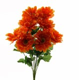 Zinnia Artificial Flower Bunch x 10