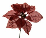 Christmas Red Poinsettia Pick