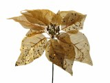 Christmas Gold Poinsettia pick