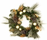 Gold Pine Christmas Wreath 20""