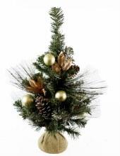 "Christmas Tree Hessian Planter 26"""