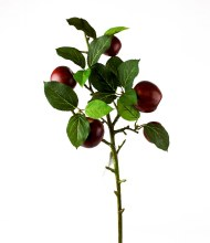 Artificial Red Apple Stem x 5 Apples