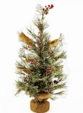Artificial Christmas tree In Hessian Sack 24""