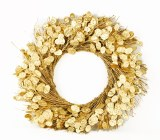 Gold Christmas Honesty Wreath