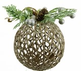 Christmas Wicker Bauble Large 5""