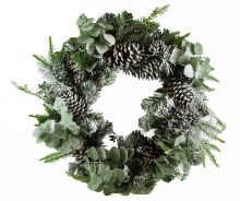 Christmas Wreath Eucalyptus Pine Cones & Berries 20""