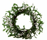 Christmas Door Wreath Berries & pearls 20""