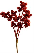 Christmas Berries Glitter Red 35cm
