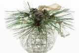 Christmas Bauble Wicker White 7""