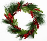 Christmas Wreath Pine/ berries 26""