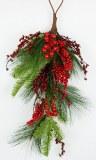 """Christmas Teardrop Pine/ Berries 27"""""""