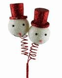 "Snowman Christmas Pick 12"""