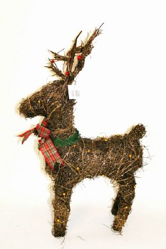 40cm Glitter Christmas reindeer