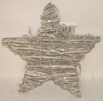 White wicker Christmas star 10""