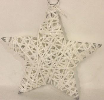 White sisal Christmas star 8in