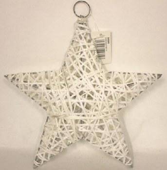 White sisal Christmas star 10in
