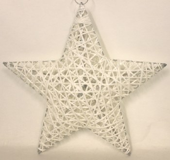 White sisal Christmas star 12in