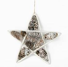 Christmas Star Decoration Pine Cones 10""