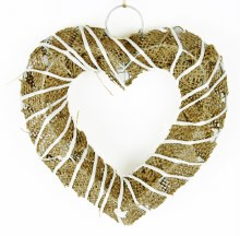 Wicker Heart Hanger 8""