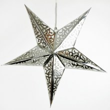 Silver 3D Metallic Star 60cm