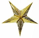 Gold 3D Metallic Gold Star 60cm
