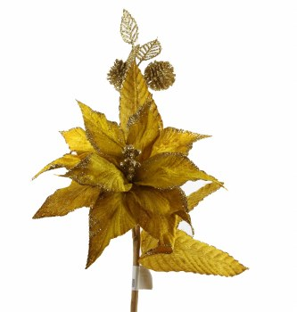 Gold Christmas poinsettia