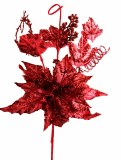 Red fabric Christmas poinsettia
