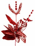 Glitter red lily decorative flower