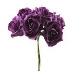 Mauve crinkle colourfast foam roses x 6-8cm