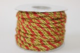 Gold/ red cord decorative ribbon, 20 yards