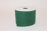 Green Velvet fabric ribbon,2.5in x 10yds