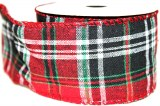 "Christmas tartan ribbon 2.5"" x 10yards"