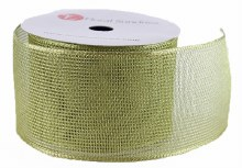 "Christmas Ribbon Wired Edge Gold/ Green 2.5"" x 10 Yards"