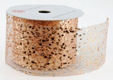 "Rose Gold Sequin Ribbon 2.5"" x 10 Yards"
