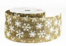 """Christmas Ribbon Wired Edge 2.5"""" x 10 Yards"""