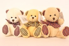 Teddy bear with bow 17cm