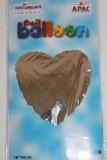 Silver heart foil balloon 18in