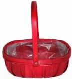 Red/ hot pink wood trug florist basket