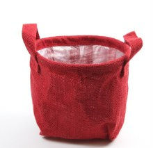 Hessian Red Lined Florist Bags 19cm x 15cm