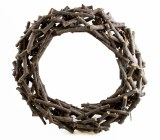 Wreath Wicker Twig & Pine Cone 40cm