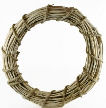 White Wicker Wreath 50cm