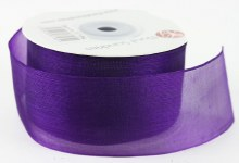Organza Ribbon 4cm x 25 Yards Purple