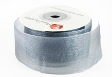 Organza Ribbon 4cm x 25 Yards Silver