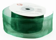 Organza Ribbon Emerald 4cm x 25 Yards